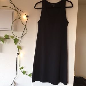 Black Athleta tank dress with built-in bra